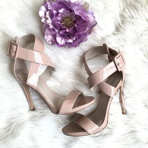 Shoemint Strappy Nude Heeled Sandals